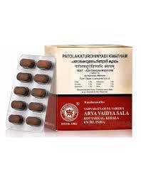 Патолакатурохинади Кватхам: детокс, противовоспалительное. 10таб, Patolakaturohinyadi Kwatham, 10 tabs., Kott