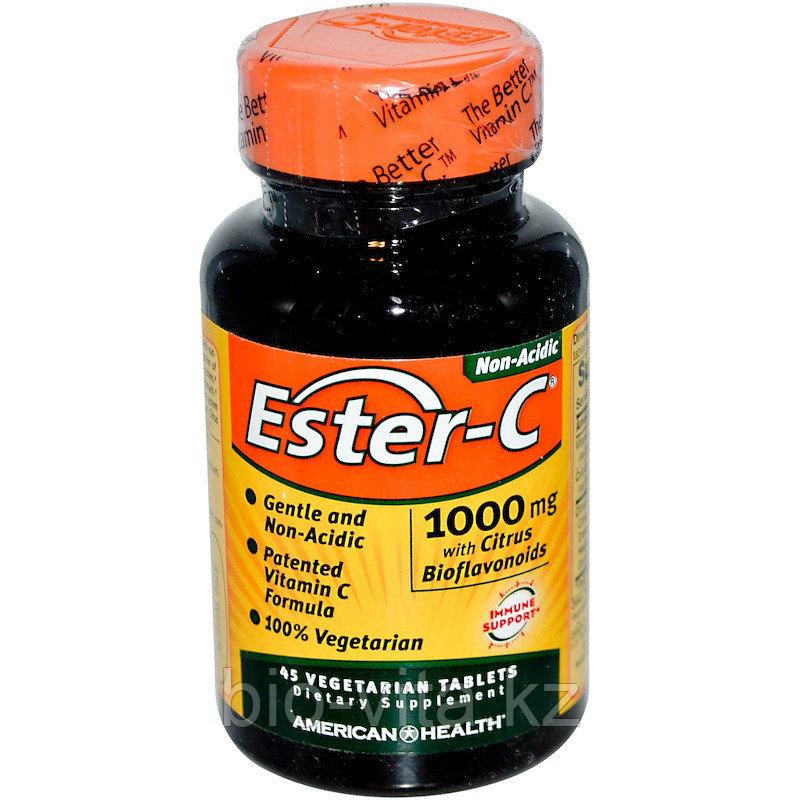 American Health, Эстер-С 1000 мг 45 таблеток. Ester C (лучшая форма усвоения витамина С не раздражает желудок)