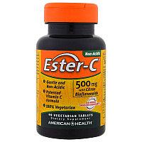 American Health, Эстер-С 500 мг 90 таблеток.Ester C (лучшая форма усвоения витамина С, не раздражает желудок)