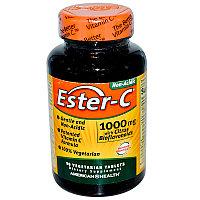 American Health, Эстер-С 1000 мг 90 таблеток.Ester C (лучшая форма усвоения витамина С, не раздражает желудок)