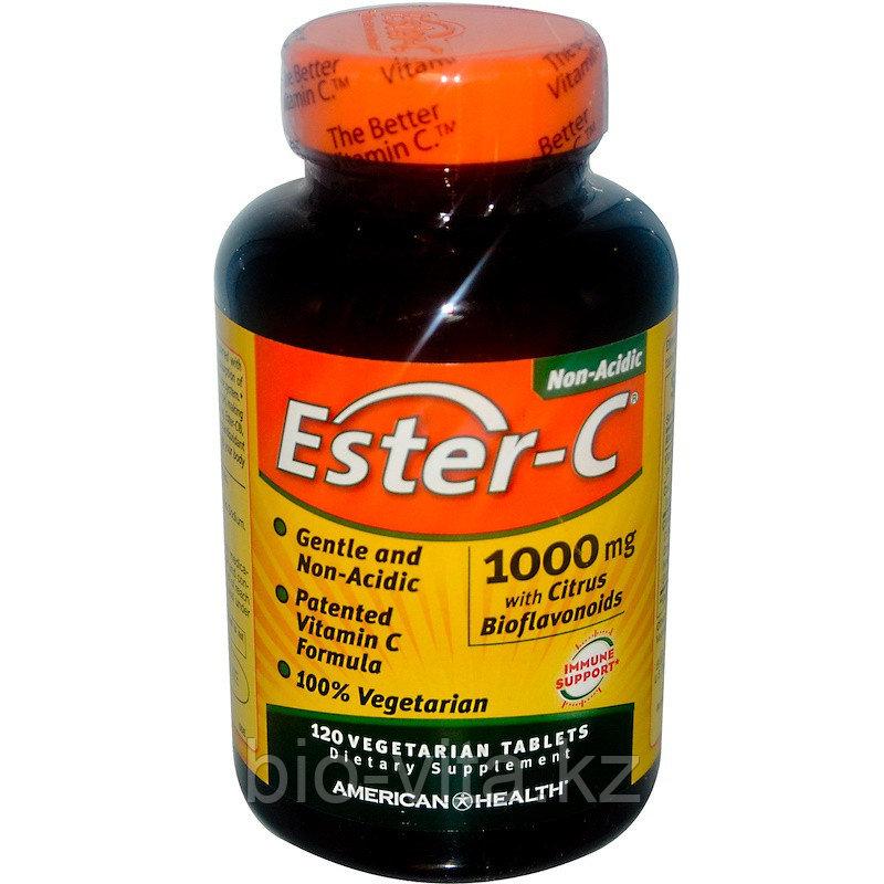 American Health, Эстер-С 1000 мг120таблеток.Ester C (лучшая форма усвоения витамина С, не раздражает желудок)