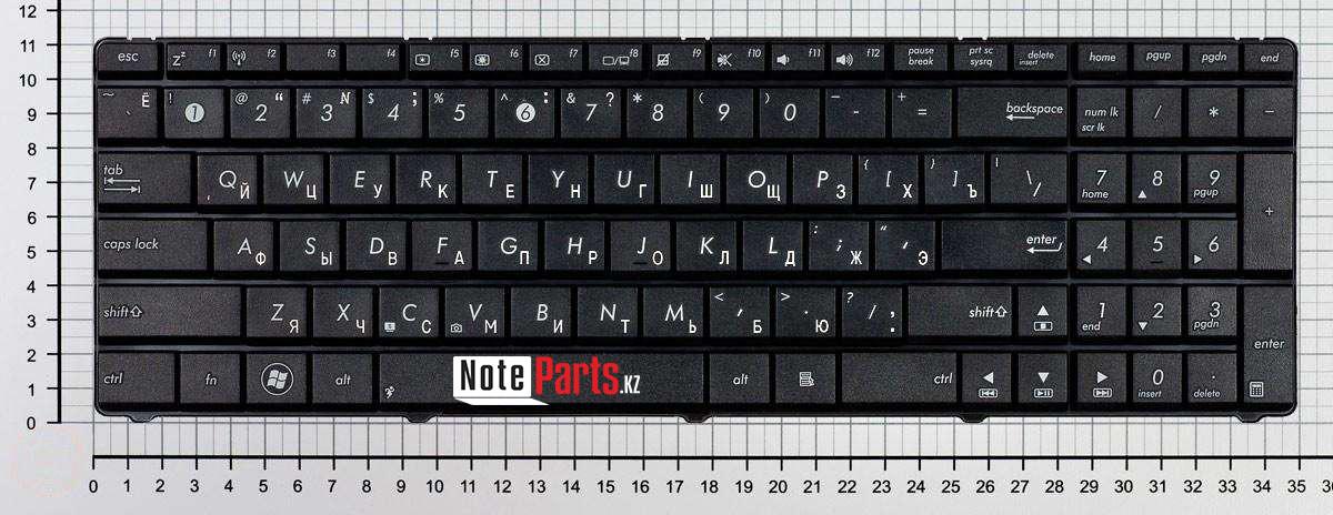 Клавиатура для ноутбука Asus G51 / K52 / K72  RU