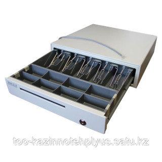 Денежный ящик «МИДЛ 1.0/К0» ( большой серый )   410х405х100 мм