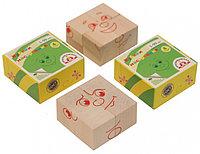 Кубики деревянные КРАСНОКАМСКАЯ ИГРУШКА Настроения, фото 1
