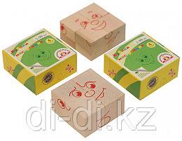 Кубики деревянные КРАСНОКАМСКАЯ ИГРУШКА Настроения