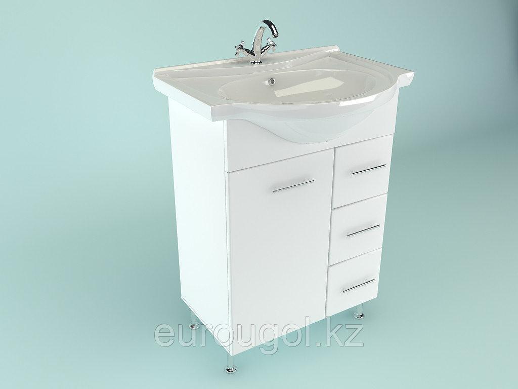 Тумба для ванной комнаты WaterWorld Стиль 700 мм, 1 дверь 3 ящика