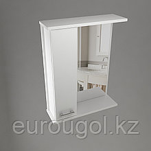 Зеркало-шкафчик для ванной комнаты WaterWorld Стиль 650 мм.