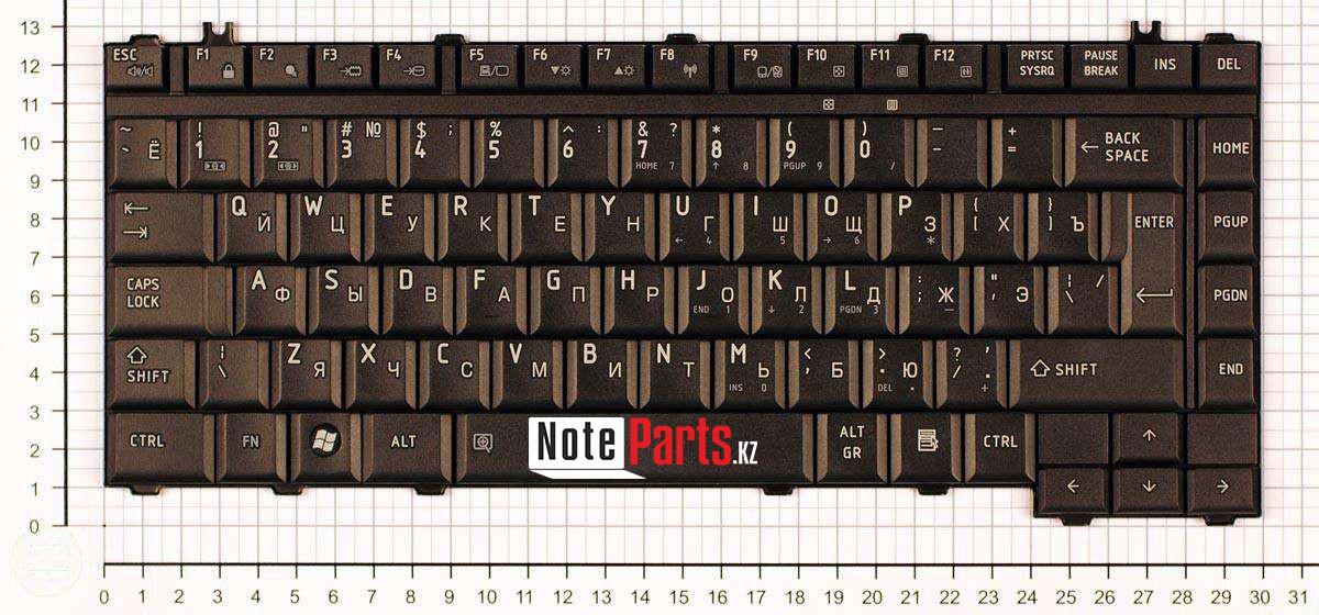 Клавиатура для ноутбука Toshiba Satellite A300/ M300/ L300, RU, черная