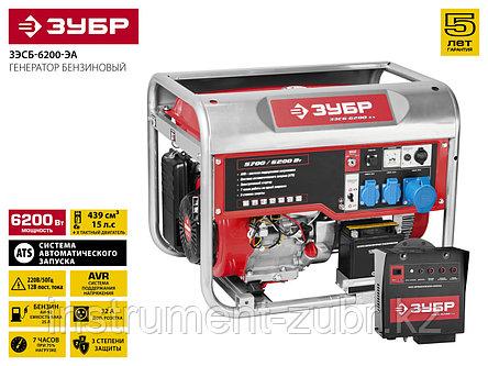 Бензиновый генератор с автозапуском, 6200 Вт, ЗУБР, фото 2