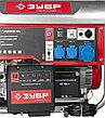 Бензиновый генератор с автозапуском, 6200 Вт, ЗУБР, фото 4