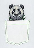 """Набор для вышивки на одежде """"Веселая панда"""""""