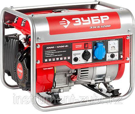 Бензиновый генератор, 1200 Вт, ЗУБР, фото 2
