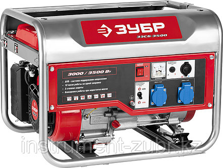 Бензиновый генератор, 3500 Вт, ЗУБР, фото 2