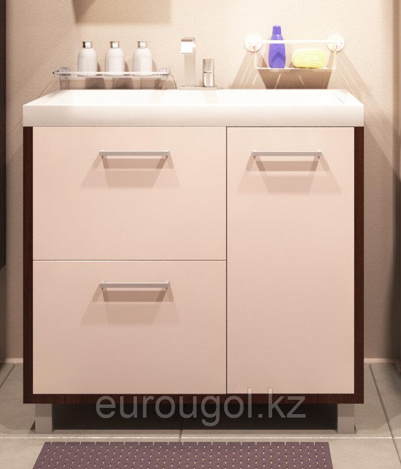 Тумба для ванной комнаты WaterWorld Оптима 800 мм, 1 дверь 2 ящика