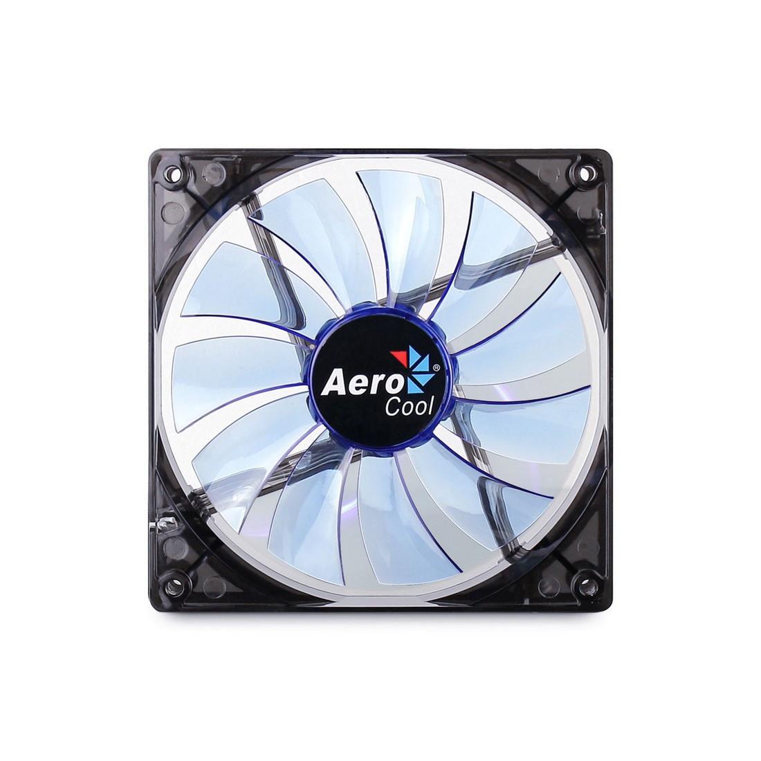 Кулер для кейса AeroCool 14см Lightning Blue Led