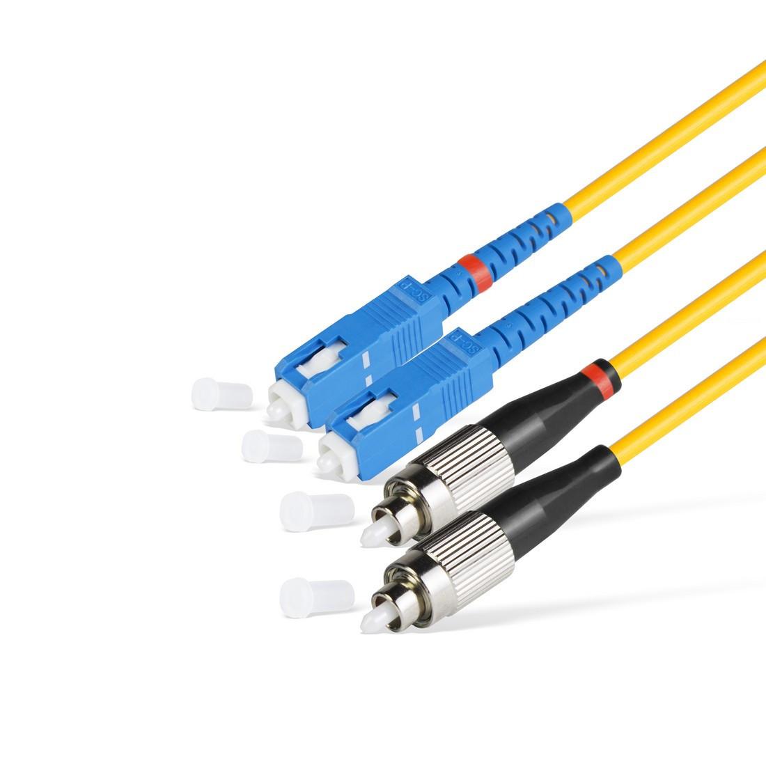 Патч Корд Оптоволоконный 2SС/UPC-2FC/UPC SM 9/125 Duplex 3.0мм 1 м
