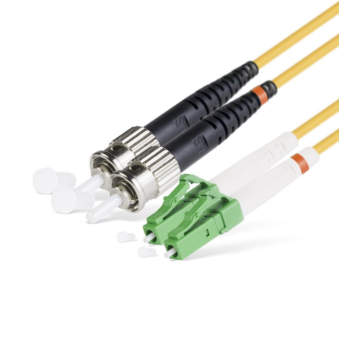 Патч Корд Оптоволоконный LC/APC-ST/UPC SM 9/125 Duplex 3.0мм 1 м