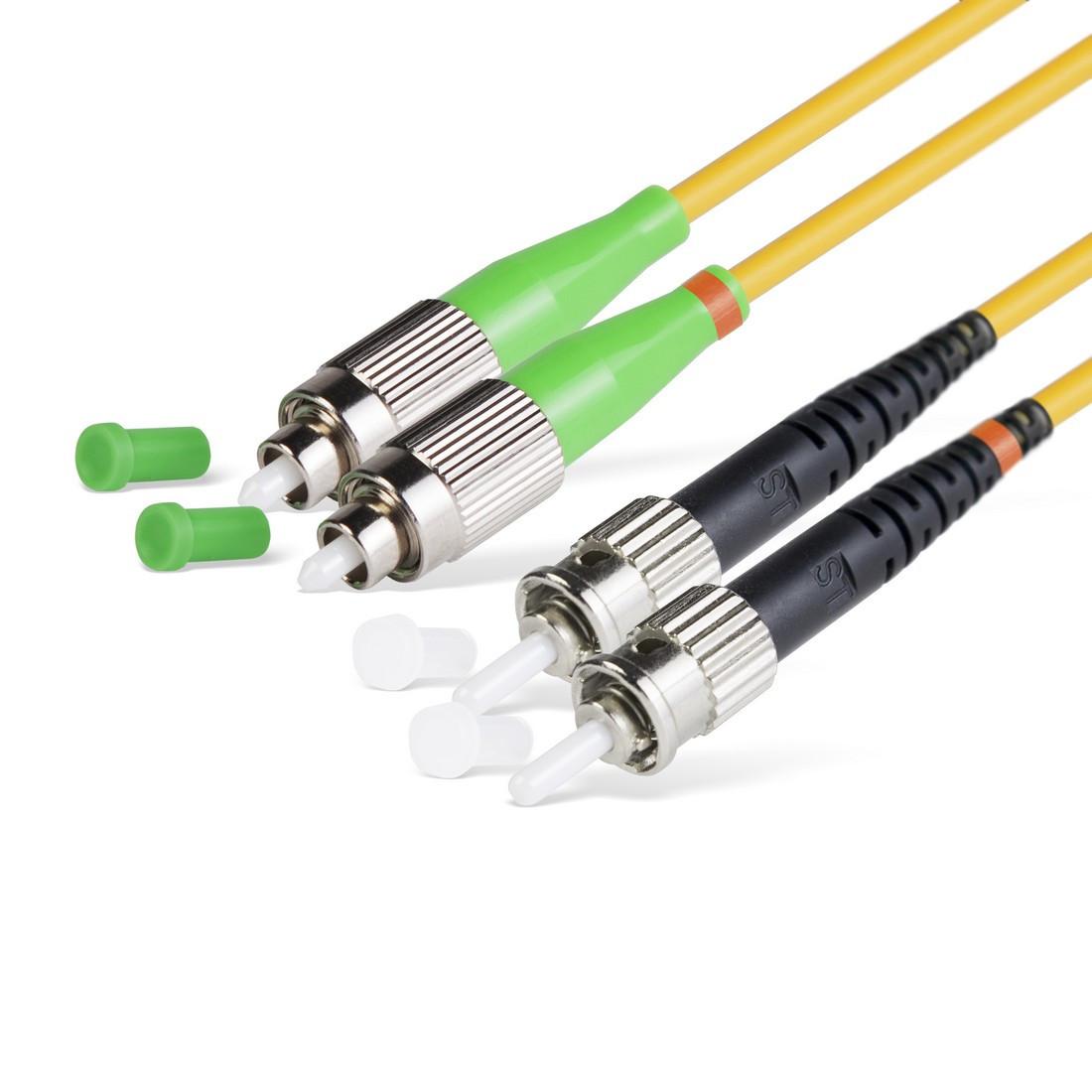 Патч Корд Оптоволоконный FC/APC-ST/UPC SM 9/125 Duplex 3.0мм 1 м