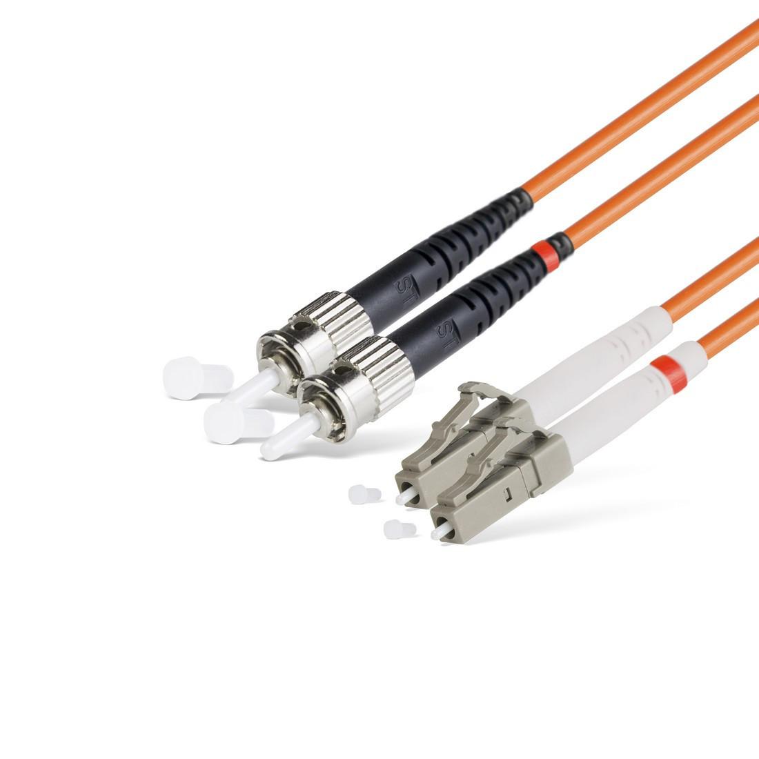 Патч Корд Оптоволоконный LC/UPC-ST/UPC MM OM2 50/125 Duplex 3.0мм 1 м
