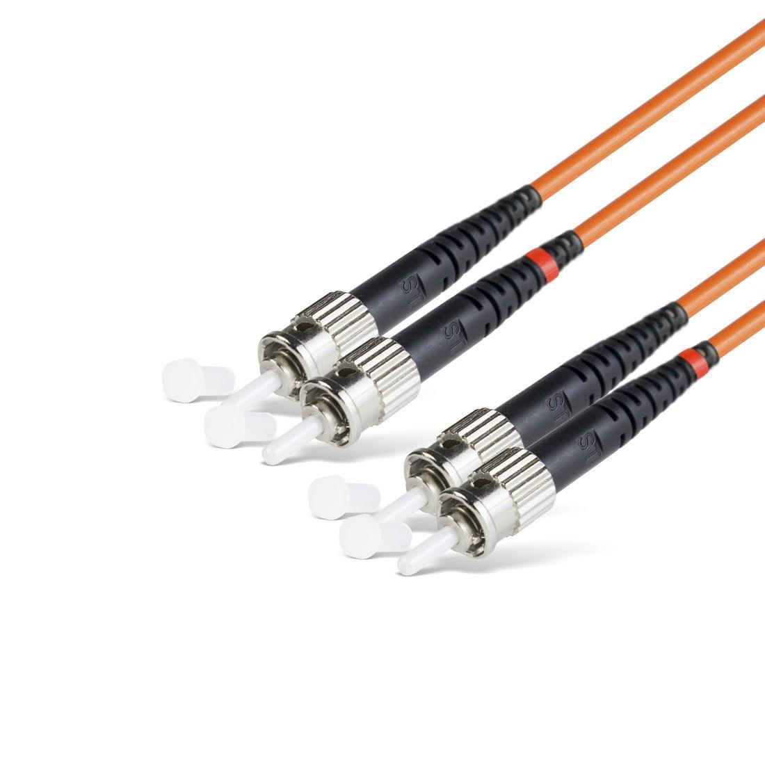 Патч Корд Оптоволоконный ST/UPC-ST/UPC MM OM2 50/125 Duplex 3.0мм 1 м