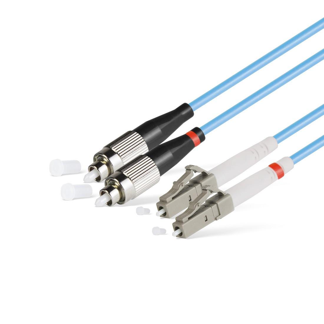 Патч Корд Оптоволоконный FC/UPC-LC/UPC MM OM3 50/125 Duplex 3.0мм 1 м