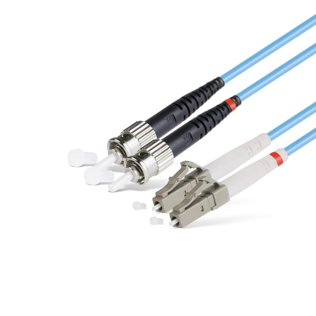 Патч Корд Оптоволоконный LC/UPC-ST/UPC MM OM3 50/125 Duplex 3.0мм 1 м