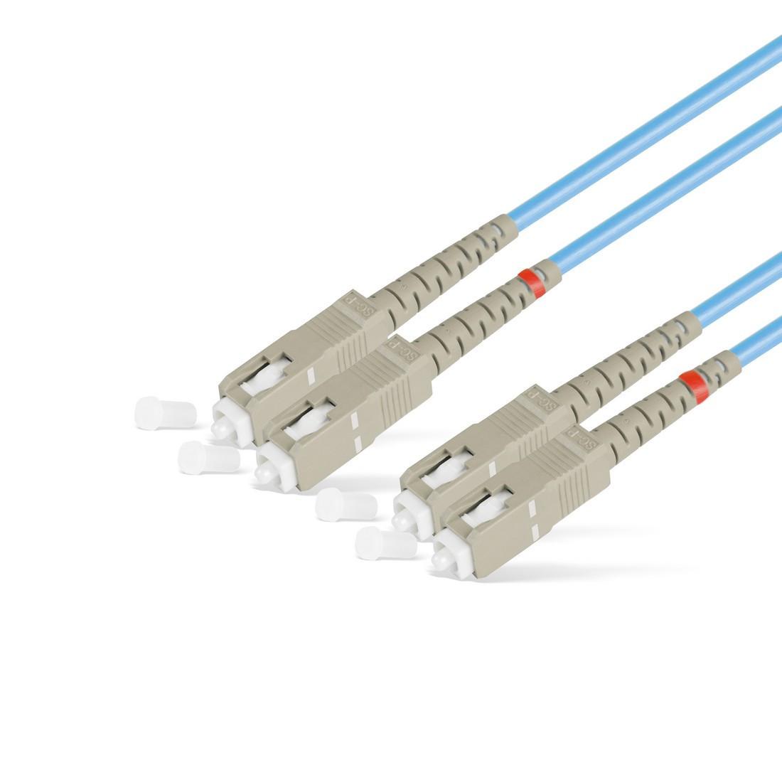 Патч Корд Оптоволоконный SC/UPC-SC/UPC MM OM3 50/125 Duplex 3.0мм 1 м