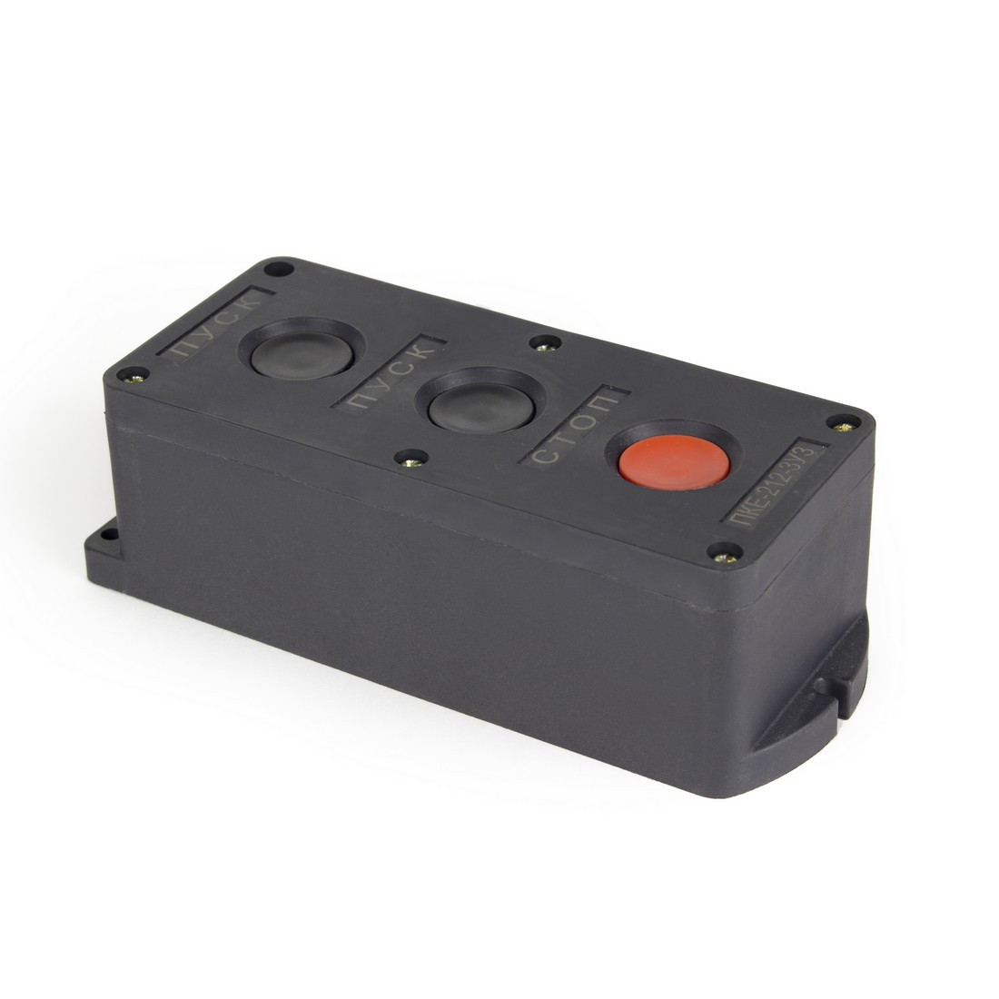 Пост кнопочный Deluxe ПКЕ-212-3 пуск-пуск-стоп