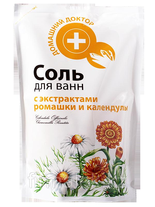 Домашний Доктор Соль для ванн с экстрактом ромашки и календулы