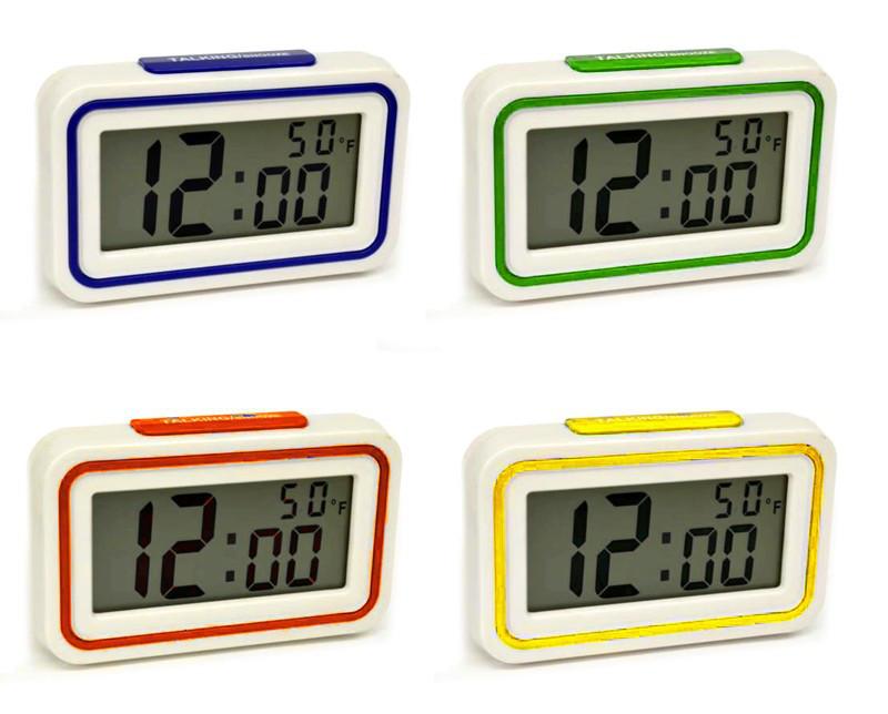 Часы с термометром и будильником говорящие Kenko KK-9905TR