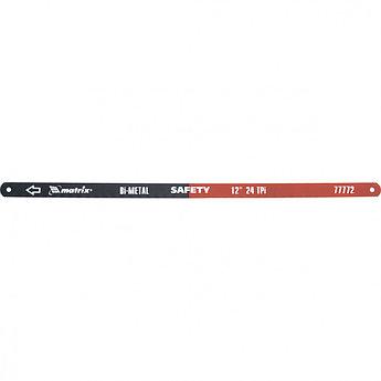 (77772) Полотна для ножовки по металлу, 300 мм, 24TPI, биметаллическое, 2 шт.// MATRIX