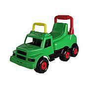 """Детская машинка-каталка """"Весёлые гонки"""" для мальчиков (зеленый), М4483"""