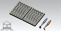 Art20062_приманка с формы визуально похожа на_ Sawamura One'up Shad - 91 mm