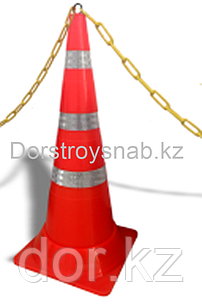 КС Конус сигнальный резиновый мягкий, гибкий, оранжевый 750 мм