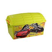 """Контейнер для игрушек """"Сундук"""" (Формула-2) 40 л для мальчиков, М4255"""