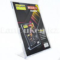Настольная подставка для полиграфии, для меню (менюхолдер) A4 оргстекло 210*297 мм  KEJEA K-471