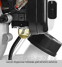 Триммер бензиновый, ЗУБР ТБ-250, 25.4 см3 ( 0.82 л.с. / 0,6 кВт), 8500 об/мин, катушка с леской, шир. скашивания 44 см, рукоятка D-образная, фото 3