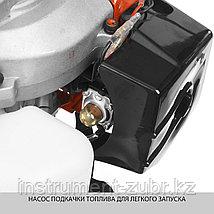 Триммер бензиновый (бензокоса), ЗУБР КРБ-350, 32,5см3 (1,1 л.с./0,8 кВт), 9000об/мин, катушка/нож, шир. скашивания 44/25,5см, велос.рукоятка, фото 3