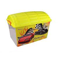 """Контейнер для игрушек """"Сундук"""" (Формула-2) 50 л для мальчиков, М4263"""