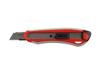 """(09157) Нож ЗУБР """"МАСТЕР"""" с сегментиров. лезвием, двухкомпонент. корпус,автофиксатор, сталь У8А,18мм"""