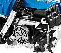 Пила цепная бензиновая, ЗУБР Профессионал ПБЦ-560 45ДП, хромир. цилиндр, праймер, декомпрессионный клапан, 56 см3 (2,4 кВт), шина 45 см, 12500 об/мин, фото 2