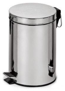 Binele Classic Ведро для мусора с педалью 5 литров полированная сталь, фото 2