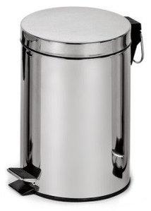 Binele Classic Ведро для мусора с педалью 5 литров полированная сталь