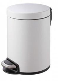 Binele Lux Ведро для мусора с педалью 5 литров белая эмалированная сталь