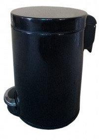 Binele Lux Ведро для мусора с педалью 5 литров черная эмалированная сталь