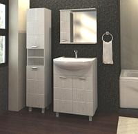 Зеркало навесное для ванной комнаты WaterWorld Квадро 800 мм.
