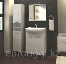 Зеркало-шкафчик для ванной комнаты WaterWorld Квадро 700 мм.