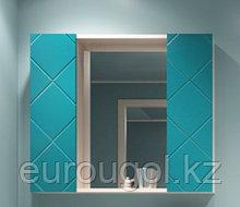 Зеркало с двумя шкафчиками для ванной комнаты WaterWorld Техно 800 мм.