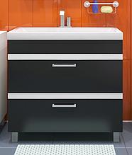 Тумба с раковиной для ванной комнаты WaterWorld Лайн 600 мм, 2 ящика