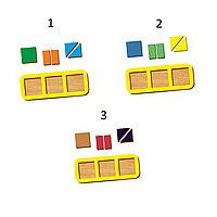 Рамка-вкладыш WOODLAND Сложи квадрат 3 квадрата, уровень 1 (5 элементов), фото 1